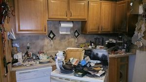 Fire Damage Restoration after kitchen fire